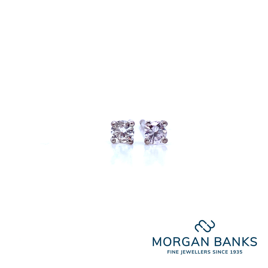 White Gold Diamond Earrings 0.10ct A78241-5