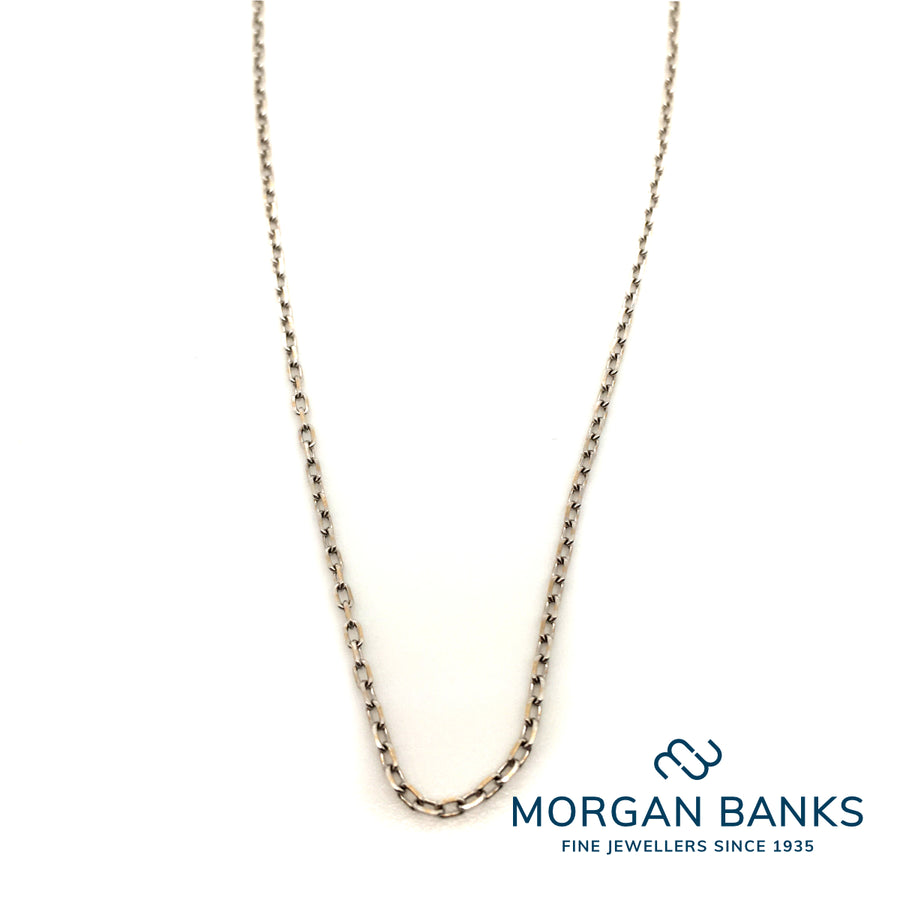 Curties 18ct White Gold Trace Chain