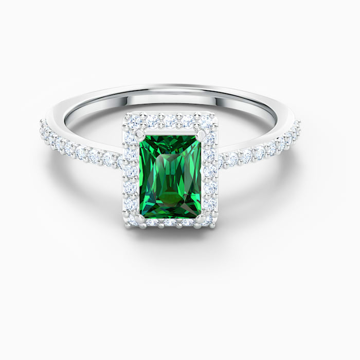 Swarovski Angelic Green and Silver Plated Ring 552663