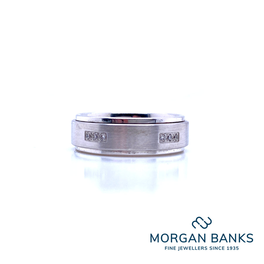 All My Love Wedding Ring AM2034 9ct 7mm .16ct: S