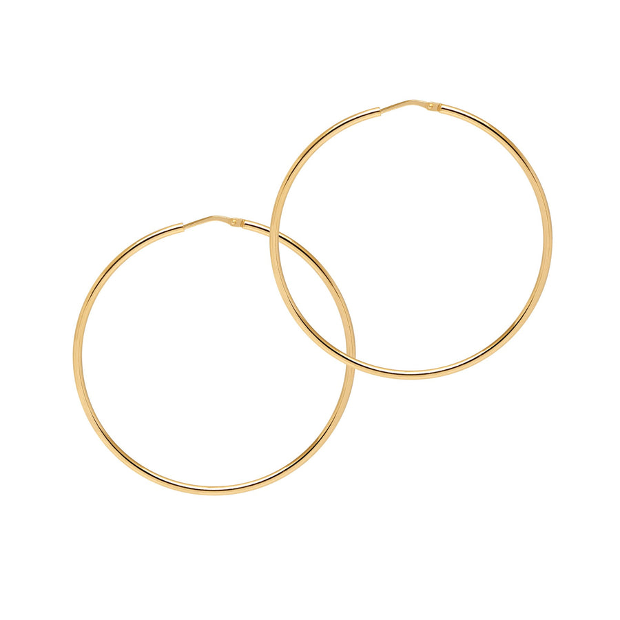 Georgiana Scott La Chica Latina Gold Hoops 53mm H168y