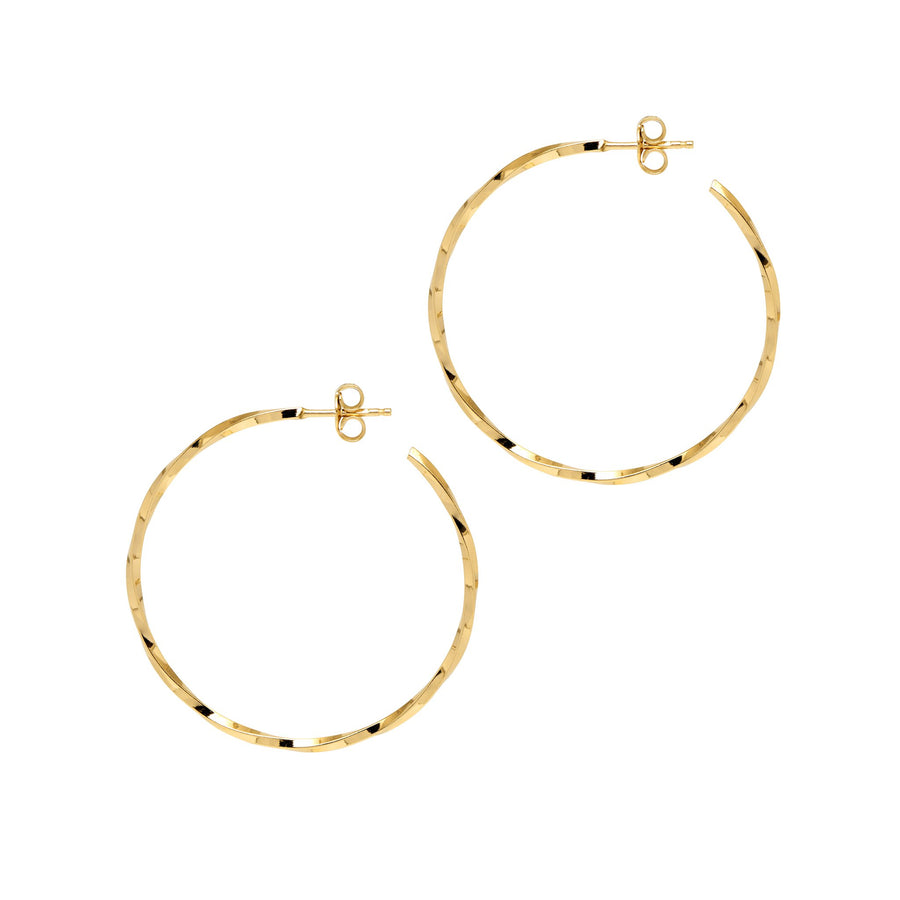 Georgiana Scott La Lago di Como Gold Hoops 53mm H136y