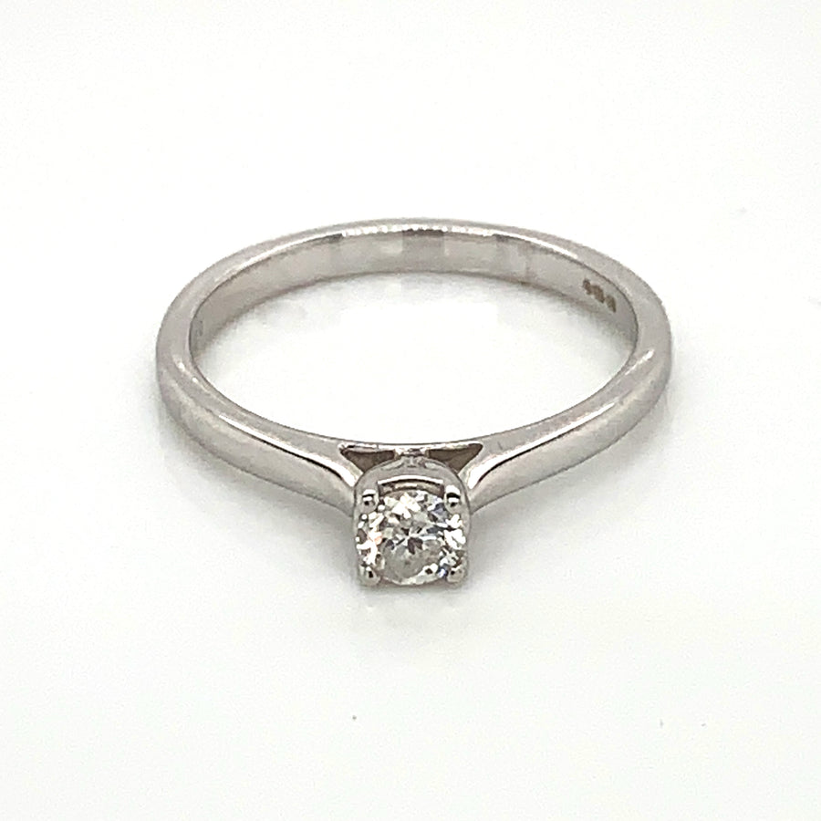 9ct White Gold 0.25ct Solitaire Diamond Ring 9329R025