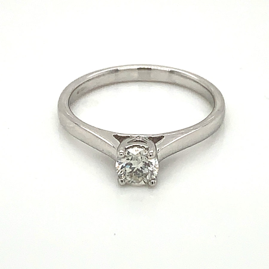 9ct White Gold 0.40ct Solitaire Diamond Ring 9329R040