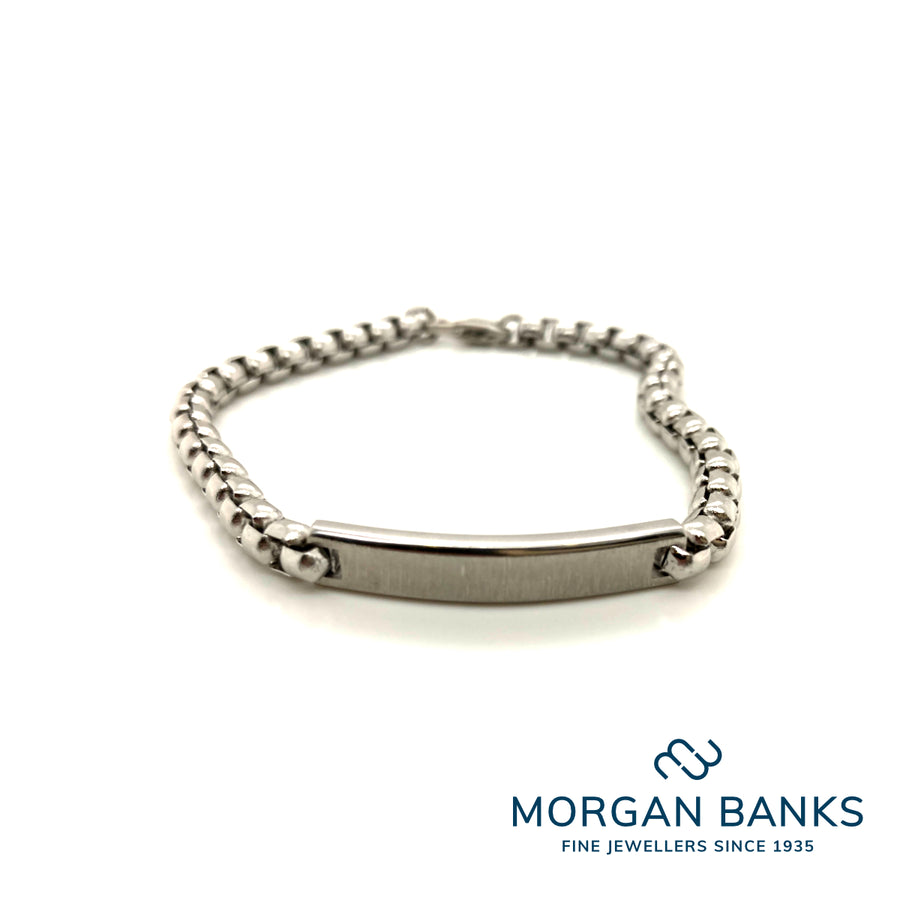Morgan Banks Steel Gents Plate Bracelets