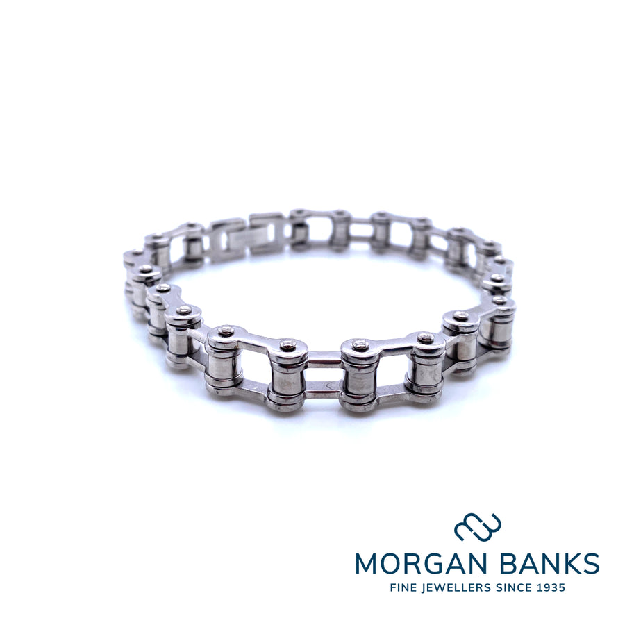 Morgan Banks Steel Wide Gents Bracelet