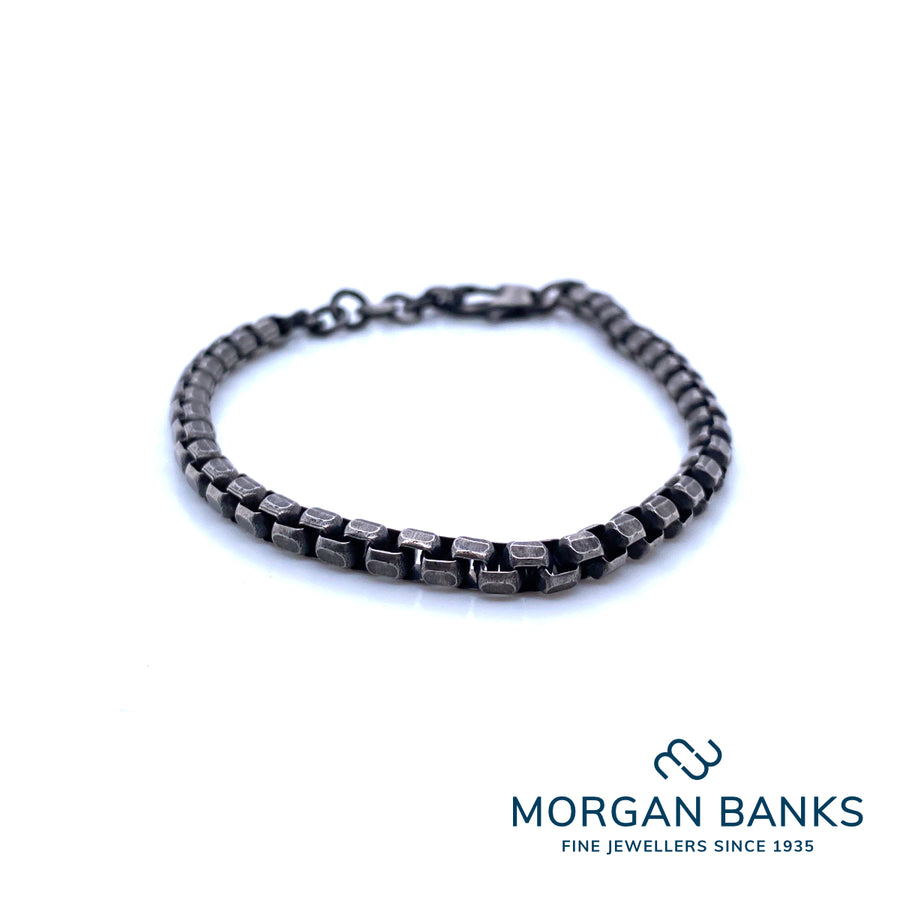Morgan Banks Steel Gents £30 Dark Bracelet