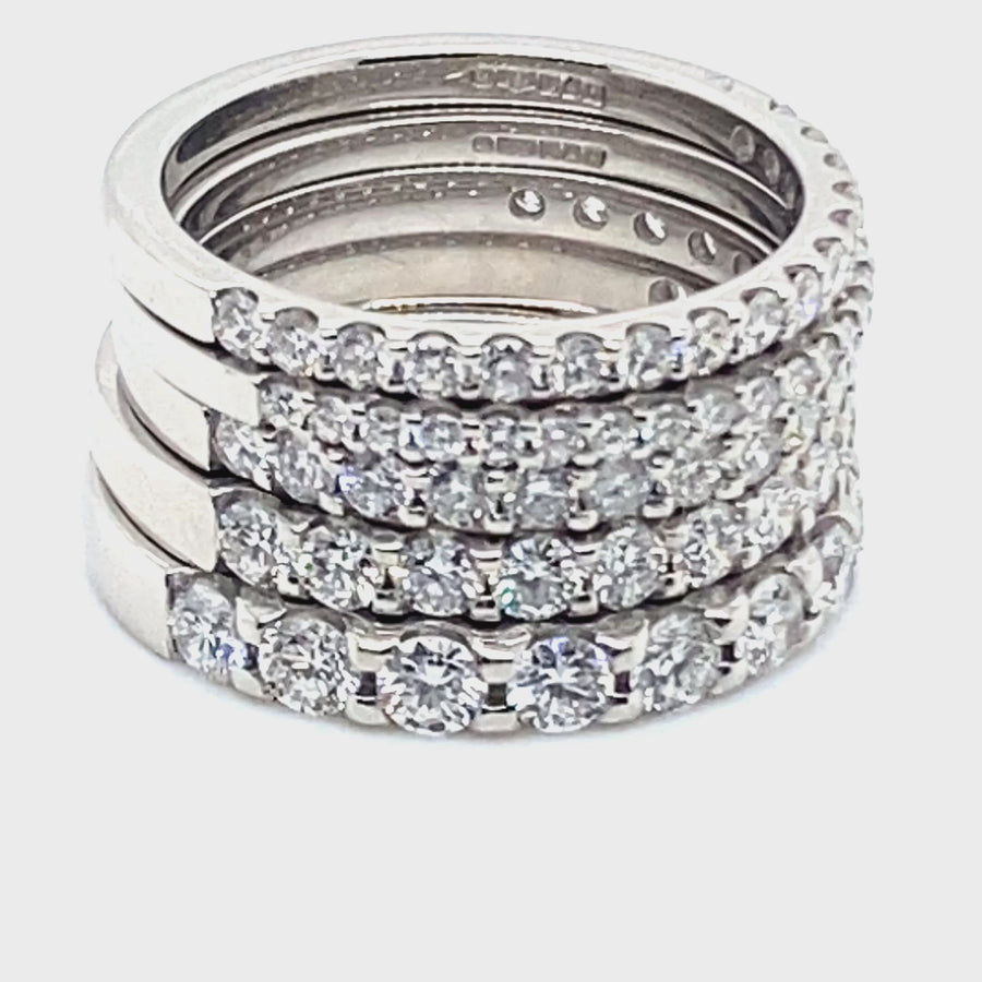 Platinum Diamond Eternity 1/2 Set 1.07ct Ring
