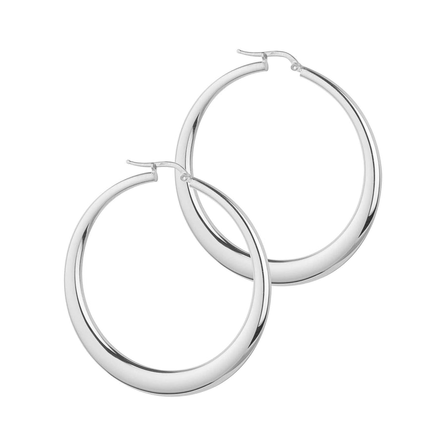 Georgiana Scott La Portofino Silver Hoops 44mm H64S