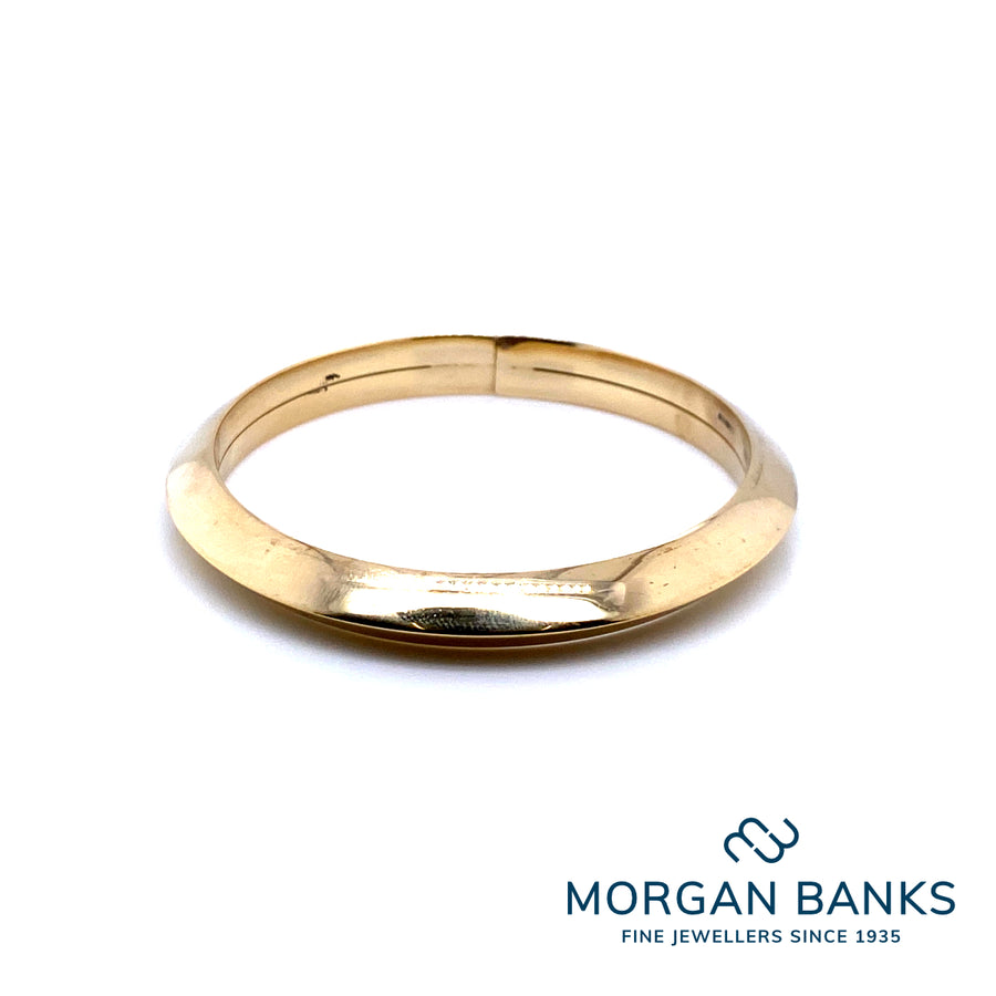 18ct Vermeil On Silver Bangle MME0124Y
