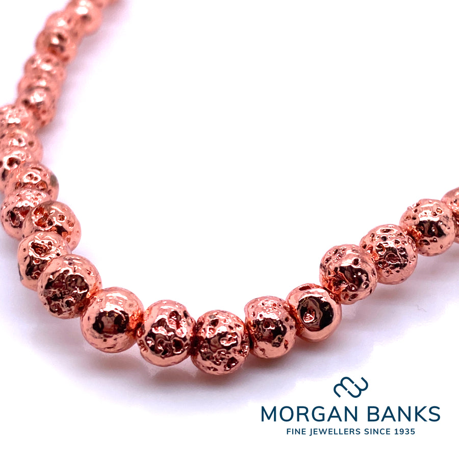 Morgan Banks Long Length 6mm Copper Electro Plated Necklace