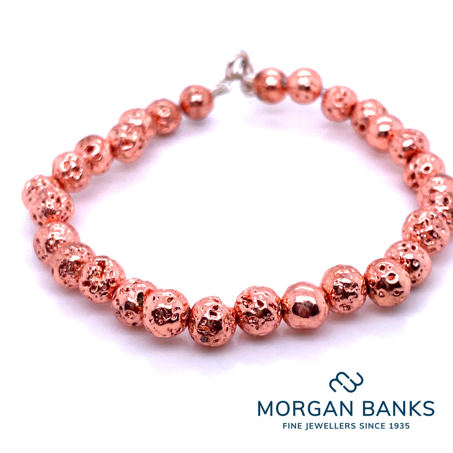 Morgan Banks 6mm Copper Electro Plated Bracelet
