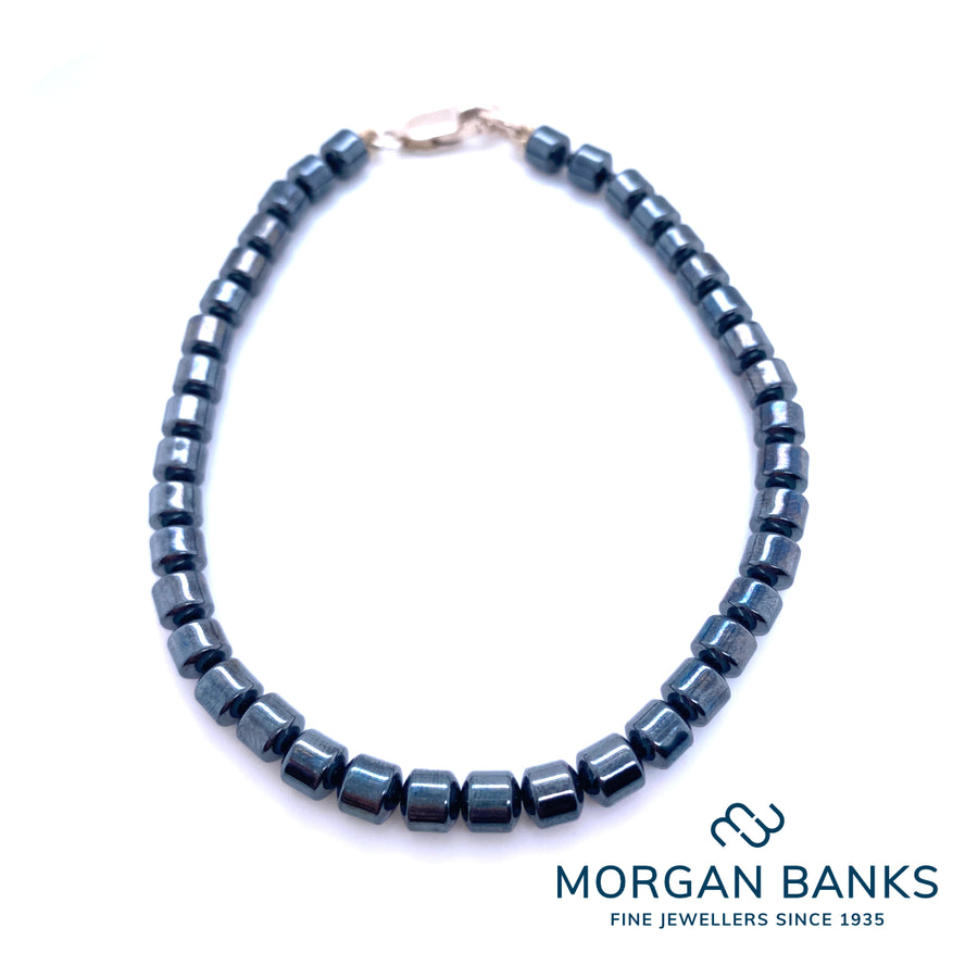 Morgan Banks 5mm Hematite Bead Bracelet