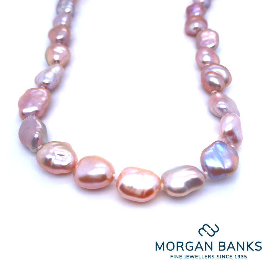 Morgan Banks Single Row Fresh Water Pearl Necklace