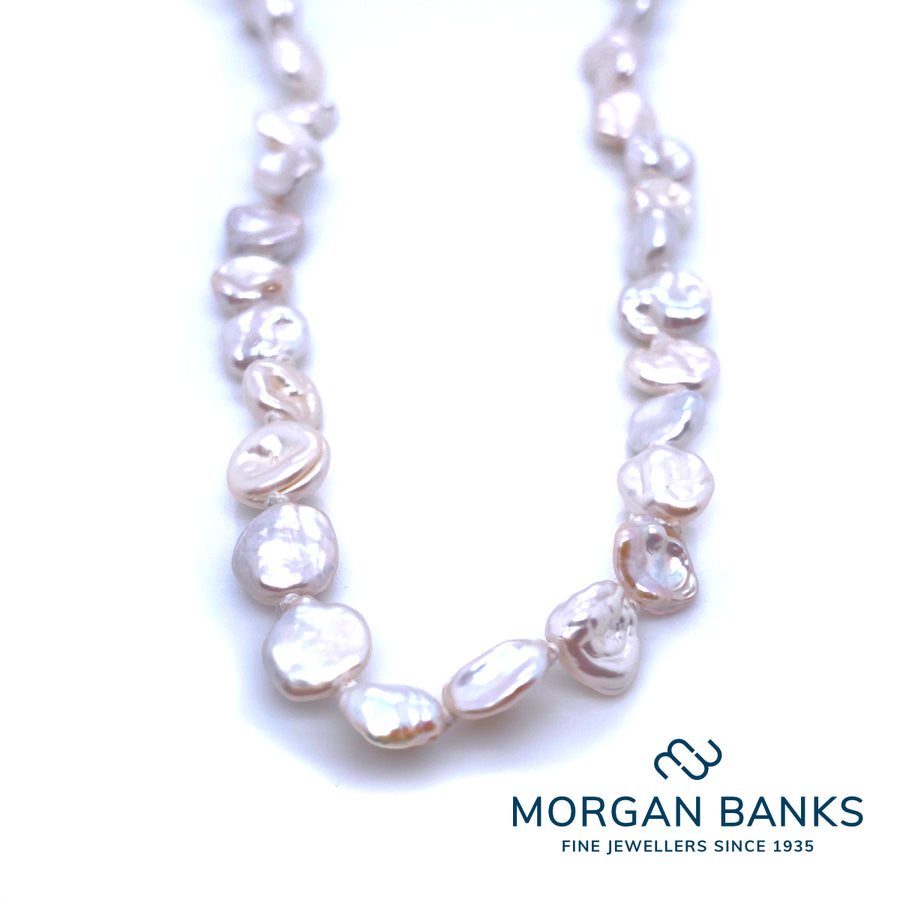 Morgan Banks Small Uneven Fresh Water Pearl Necklet