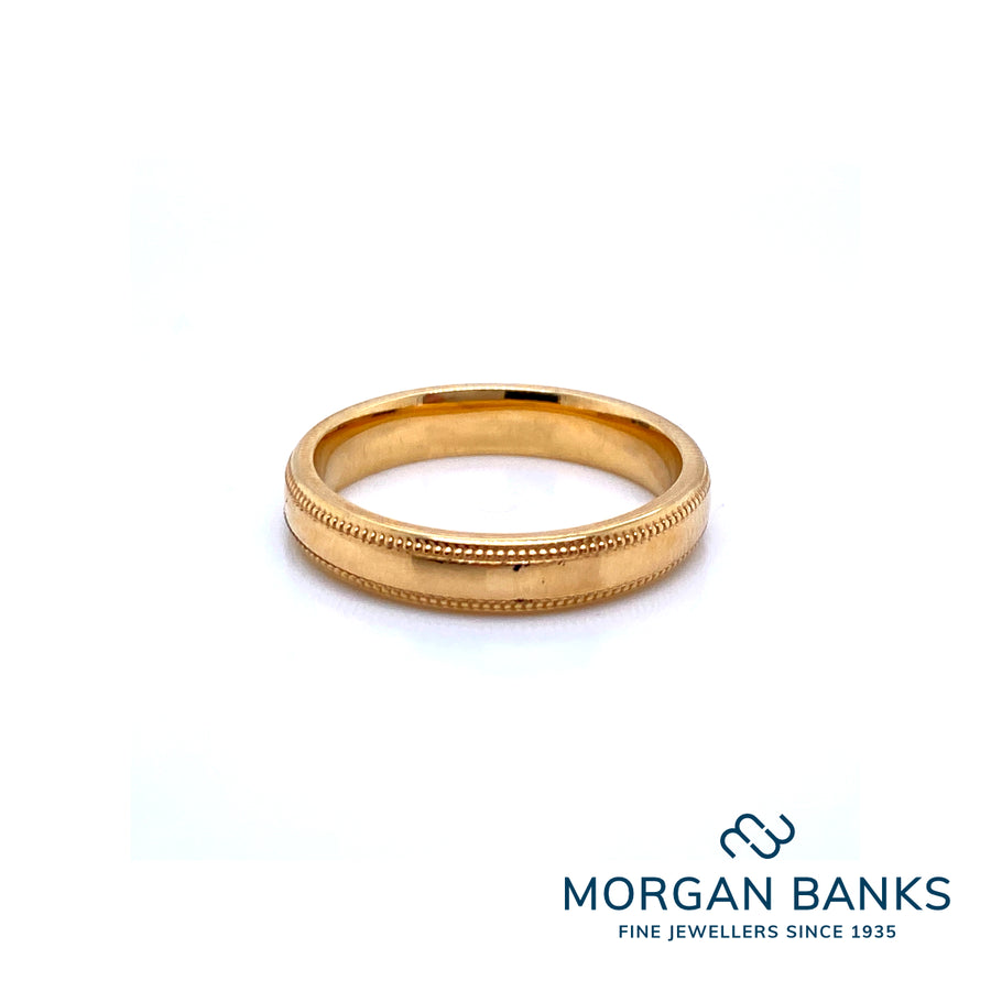 GB 18ct Yellow Gold Wedding Band