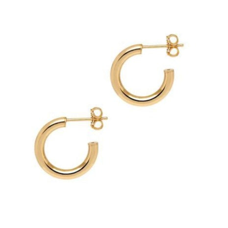 Georgiana Scott La Napoli Gold Hoops 175mm H126y