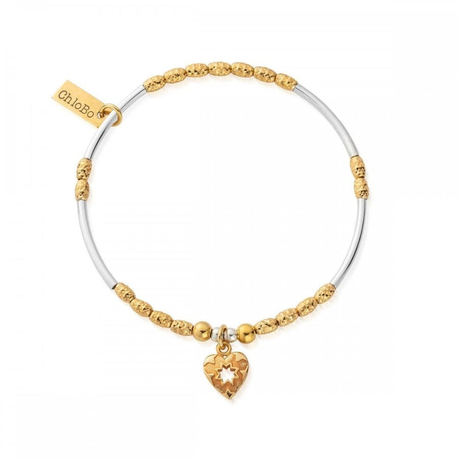ChloBo Gold and silver star heart bracelet GMBMBMNSR4022