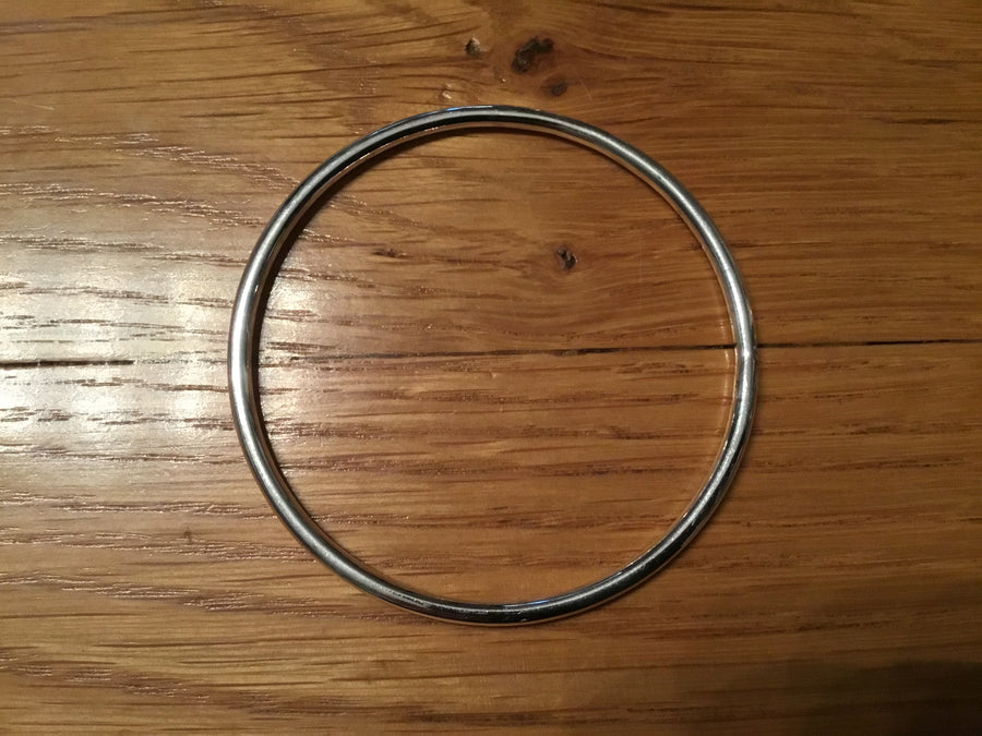 Silver 3mm Halo  Bangle