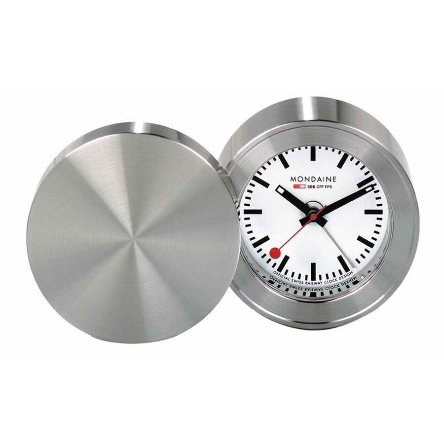 Mondaine TABLE CLOCK travel alarm, 50 mm, MSM.64410