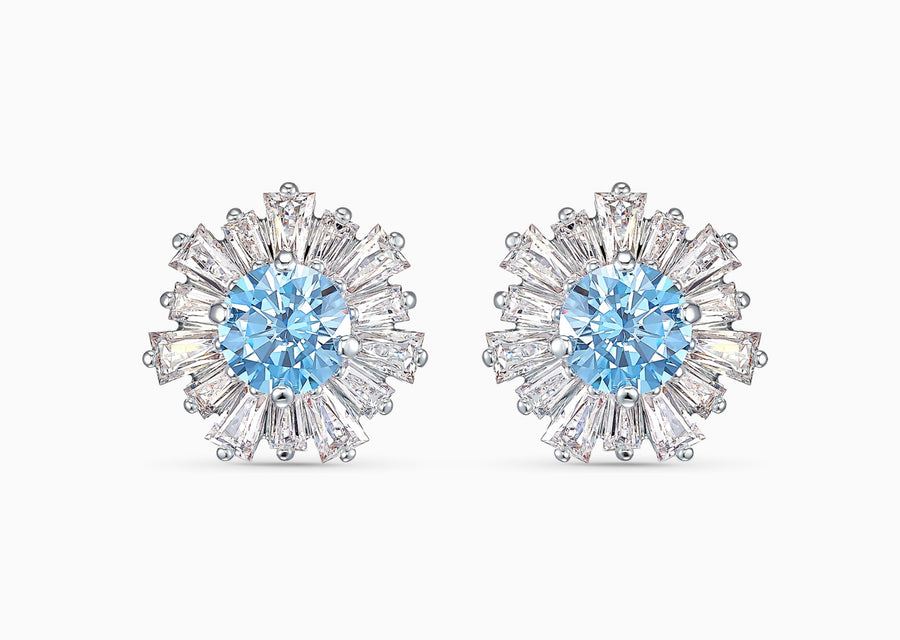 Swarovski Sunshine Pierced Earrings, Rhodium Plating, Anniversary, 5536741