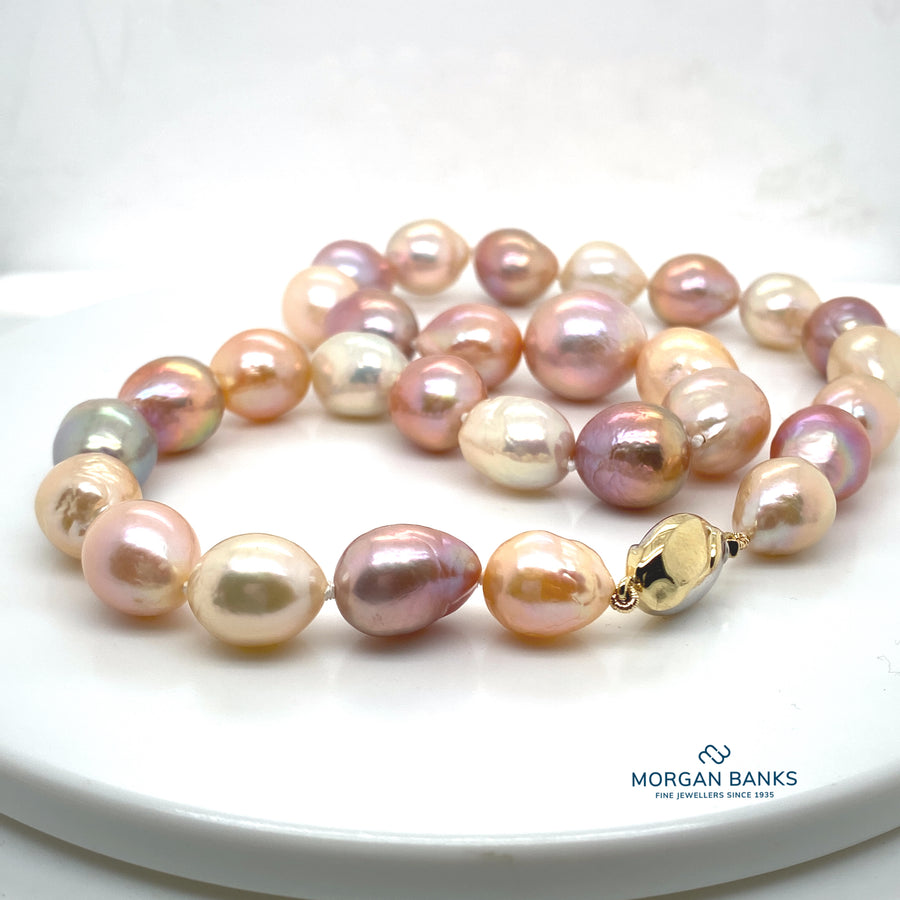 10mm/12mm  Baroque Fresh Water Pearls with 9ct Clasp
