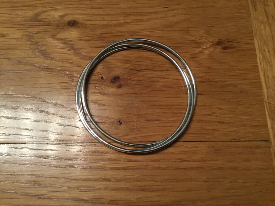 Silver 2mm Russian Halo  Bangle