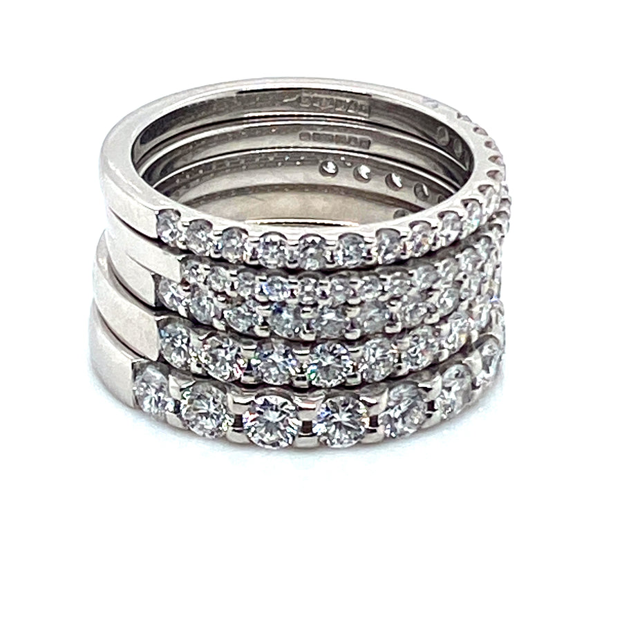 Platinum Diamond Eternity 1/2 Set .60ct Ring