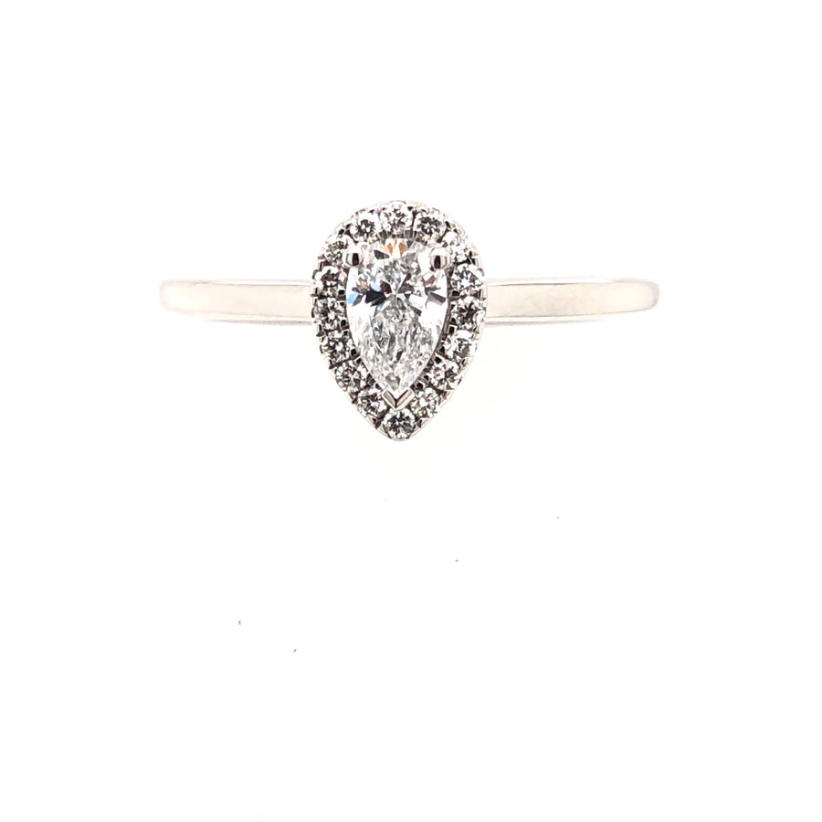 The Raphael Collection Platinum Pear shaped Diamond Engagement Ring ENG4952