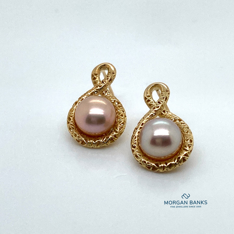 9ct Gold Pearl Earrings ER1499