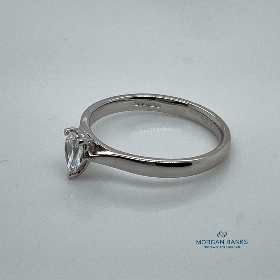 Platinum Pear Shaped Diamond Ring .27ct F SI1 M2220