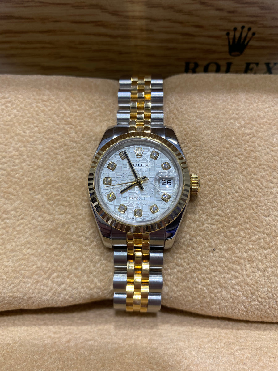 Rolex Bi Colour  Gold Ladies Datejust 179173 F955760