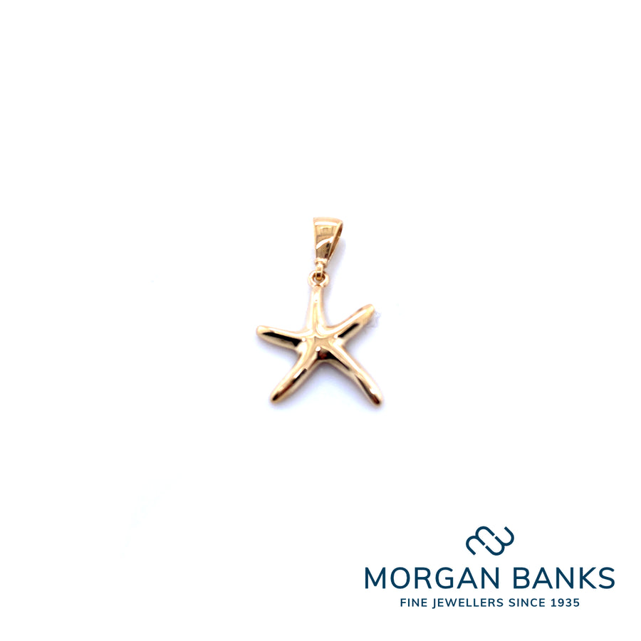 9ct Yellow Gold Starfish Pendant PD615