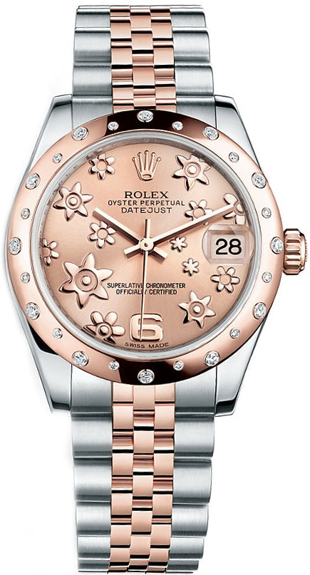 Rolex Bi Colour Everose Gold Mid Size Datejust 178341 G341172