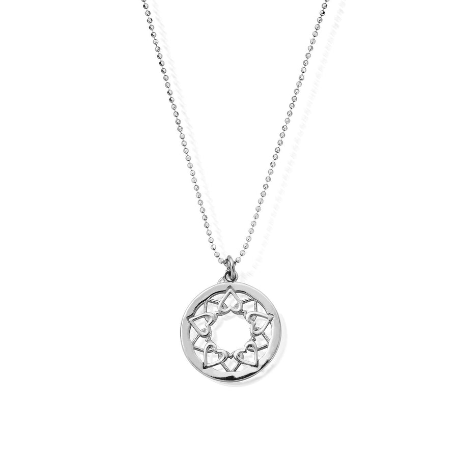 ChloBo Diamond Cut Chain with Heart Mandala Pendant SCDC1468