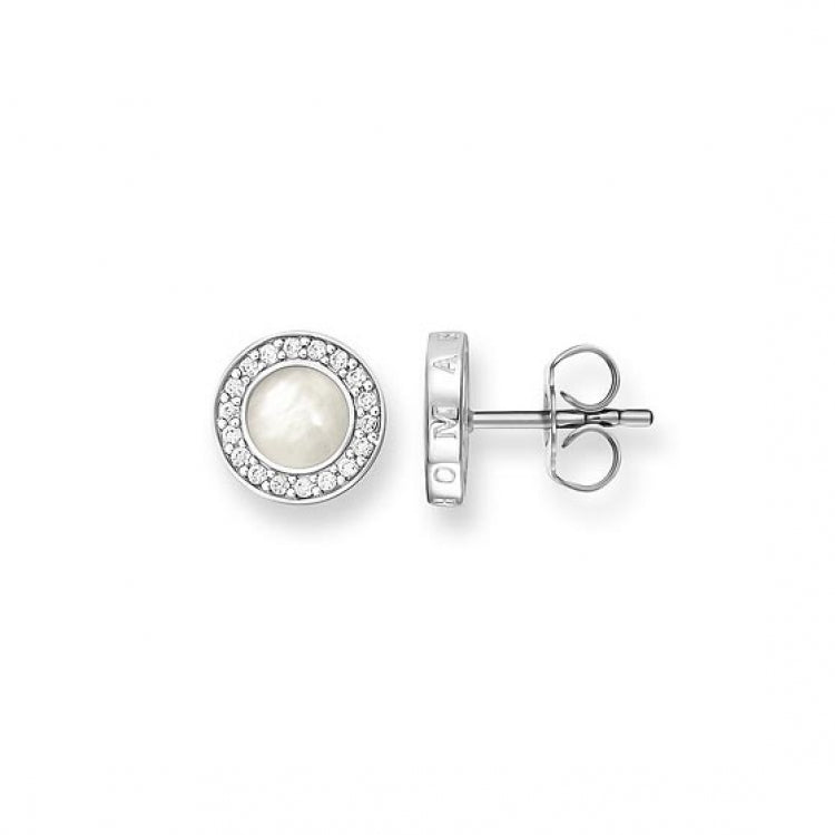 Thomas Sabo Silver Mother-of-Pearl Ear Studs SCH150026