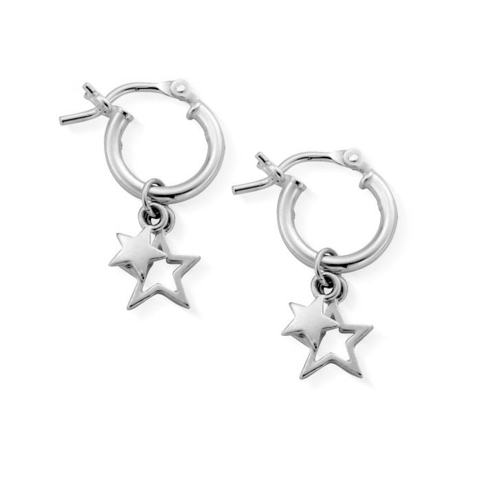 ChloBo Double Star Small Small Hoop SEH738