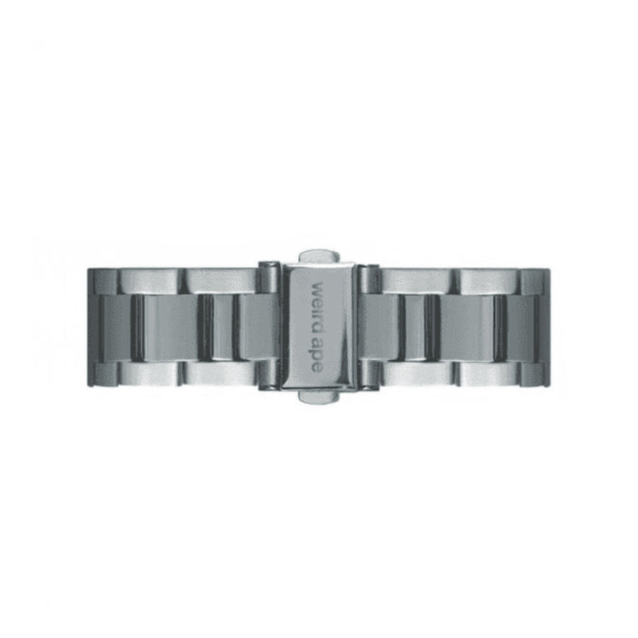 Weird Ape 16mm Silver Steel Link Watch Strap