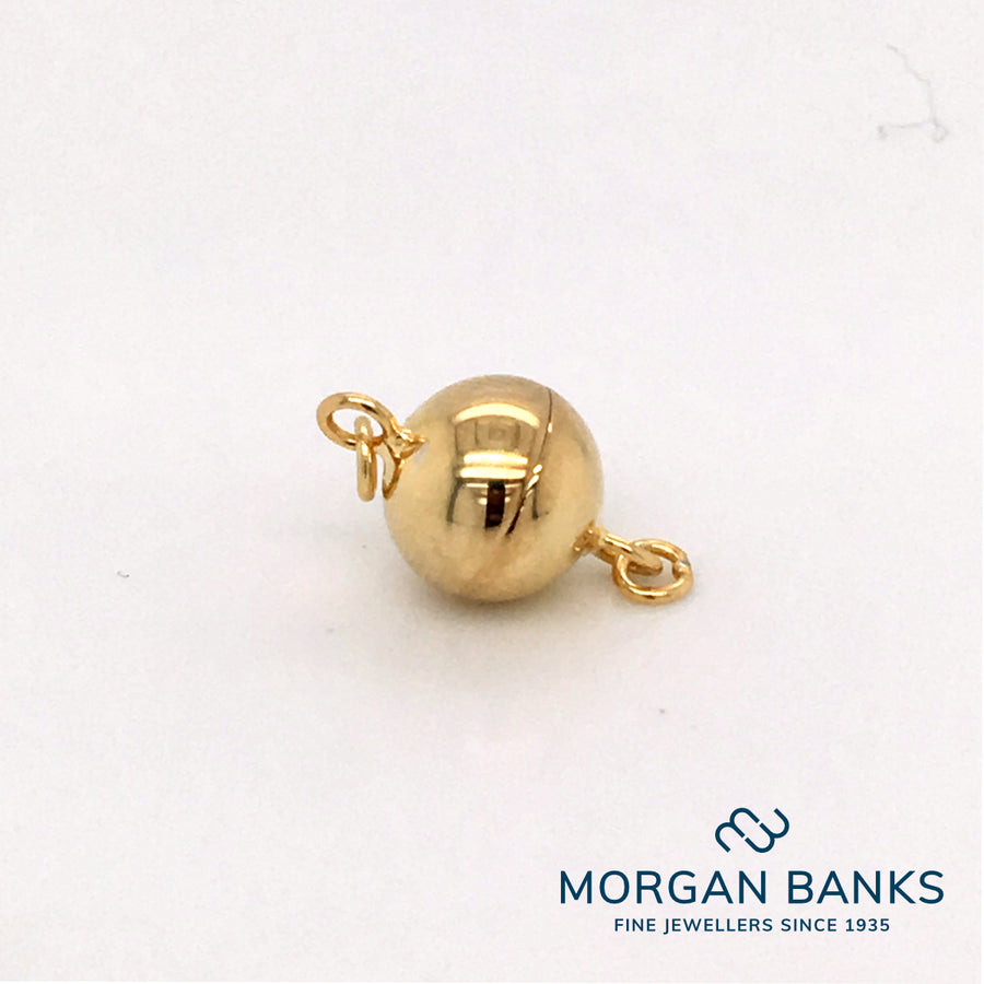 8mm Yellow Gold Magnetic Clasp SLC5