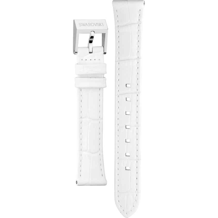 Swarovski Love Rectangle Leather Strap White Croco 5106842