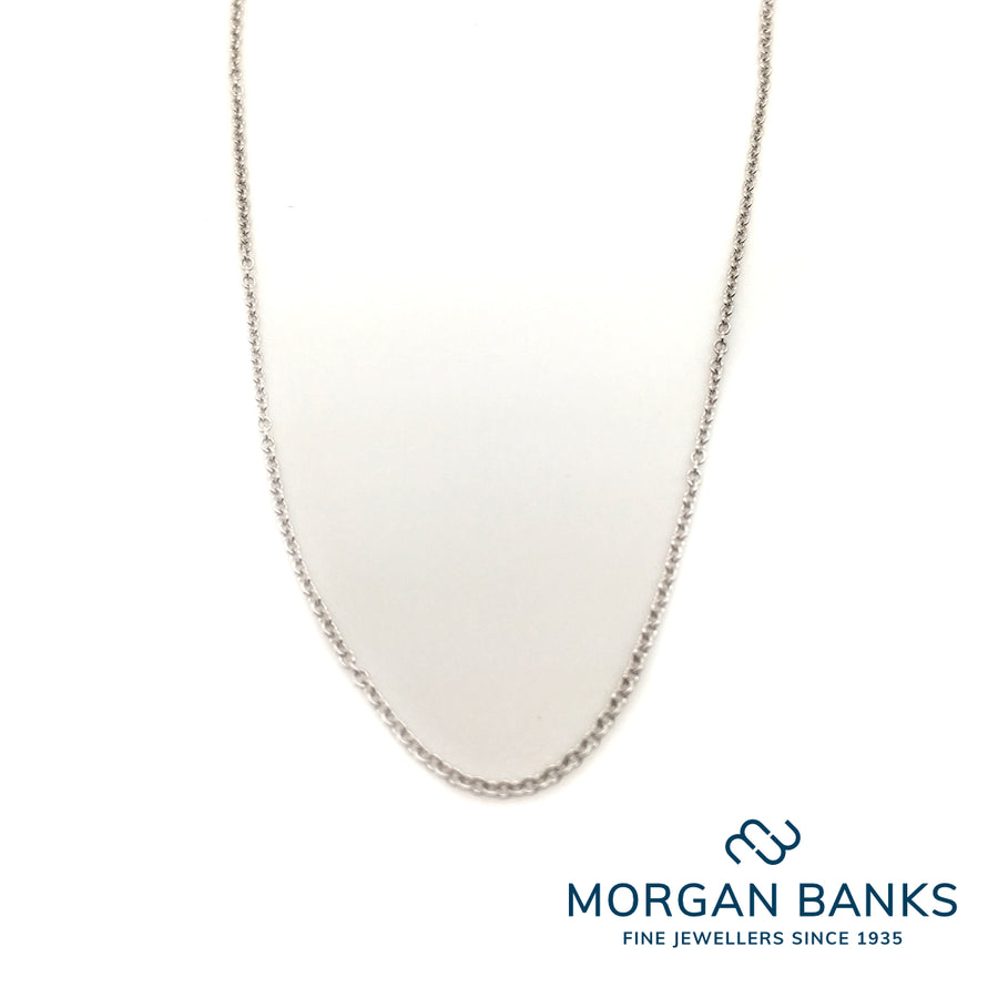 18ct White Gold Fine Trace Chain