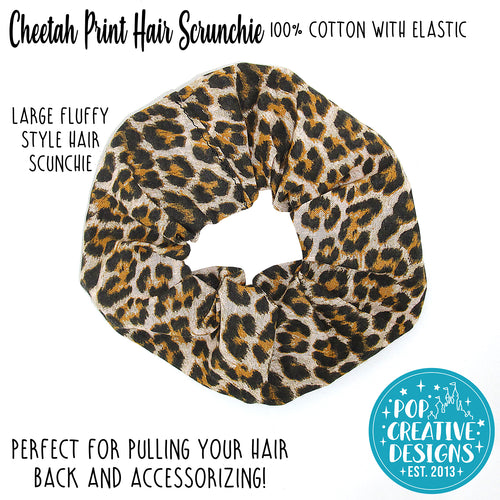 Cheetah Print Hair Scrunchie