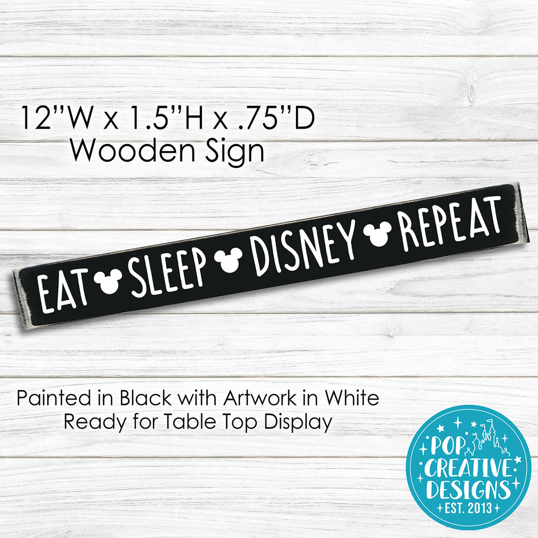 Eat Sleep Wooden Sign