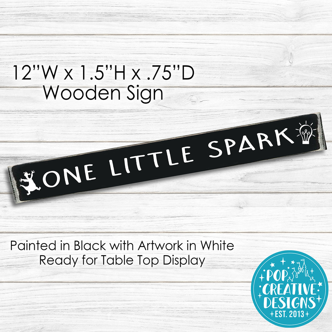 Figment One Little Spark Wooden Sign