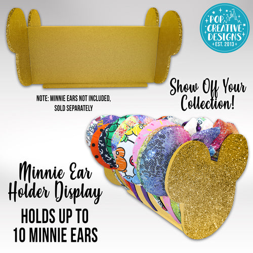Gold Glitter Minnie Ear Holder Display