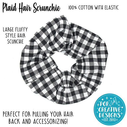 Plaid Hair Scrunchie