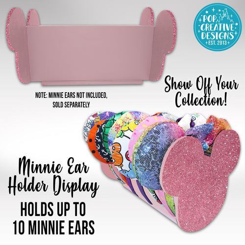 Rose Gold Glitter Minnie Ear Holder Display