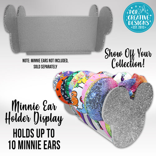 Silver Glitter Minnie Ear Holder Display