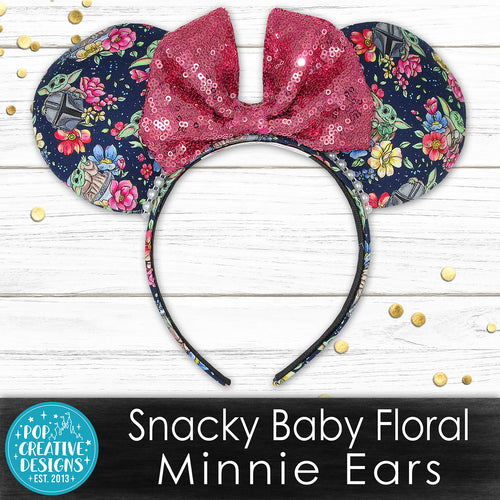 Snacky Baby Floral Minnie Ears