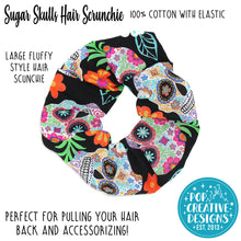 Load image into Gallery viewer, Sugar Skulls Hair Scrunchie